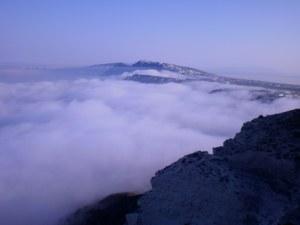 Santorini Sea Fog